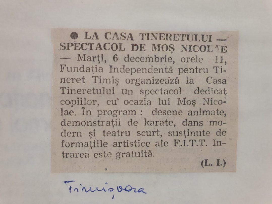 Spectacol de Moș Nicolae